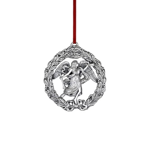 Reed & Barton Williamsburg Angel in Wreath Ornament, 3-1/4-Inch