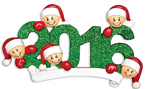 2016 Face Family Of 5 Personalized Christmas Tree Ornament X-mass by Polar X