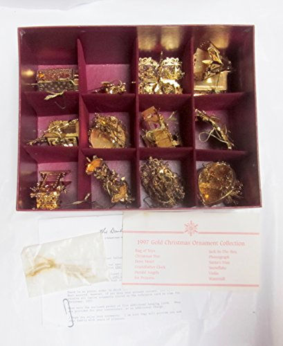 Danbury Mint 1997 23kt Gold Christmas Ornament Collection Set of 12