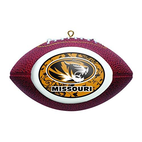 NCAA Missouri Tigers Replica Football Ornament