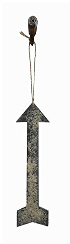 Black Paulownia Wood Arrow Hanging Christmas Tree Ornament