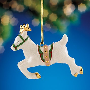 Lenox Reindeer Flight Ornament