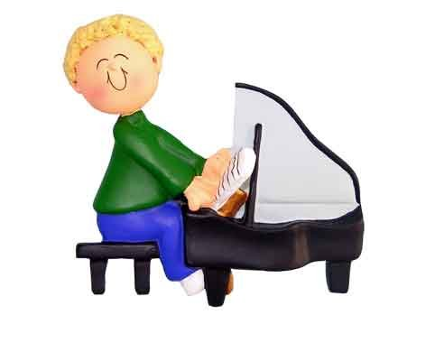 Music Treasures Co. Male Piano Player Ornament