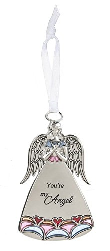 You're My Angel Red Blue and Pink Inlay Ornament – By Ganz