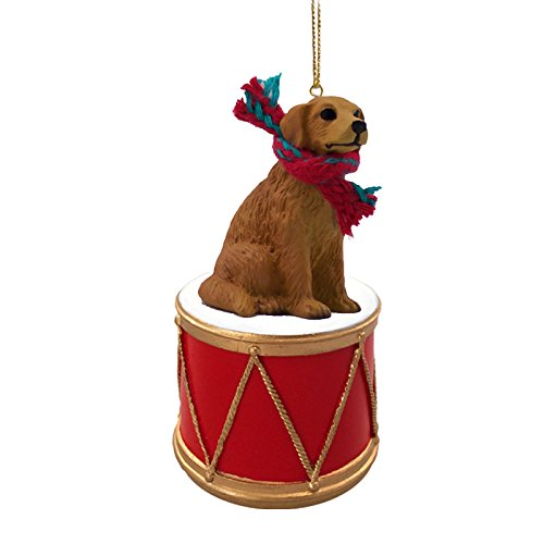 Conversation Concepts Golden Retriever Drum Ornament