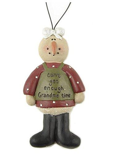Grandma Snowman Ornament
