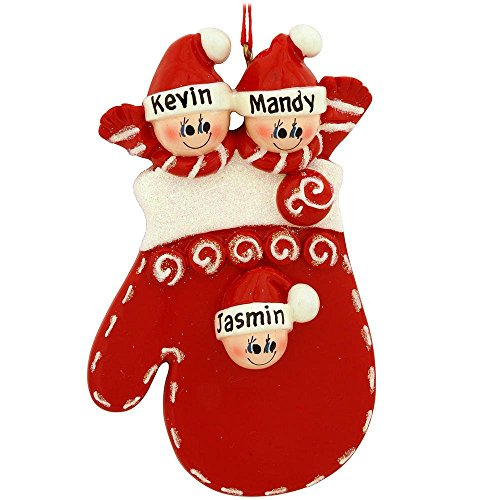 Mitten Family of 3 Ornament