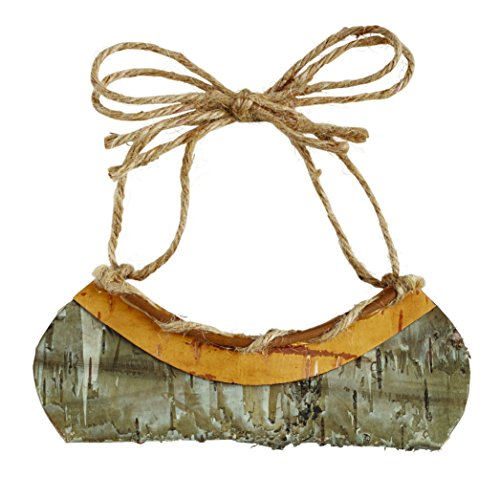 Birch Wood Canoe Ornament