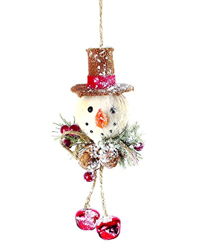 Blossom Bucket Orn Pinecone Snowman Collectibles, Small