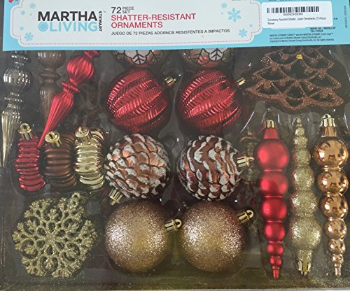 Snowberry Assorted Shatter-Resistant Ornaments (72-Piece)
