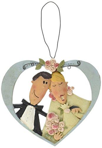 """Blossom Bucket """"Orn-Bride & Groom In Heart"""" Decor"""
