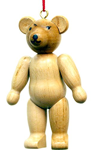 "10-0211 – Christian Ulbricht Ornament – Teddy Bear – 2.75″""H x 1.75″""W x .75″""D"