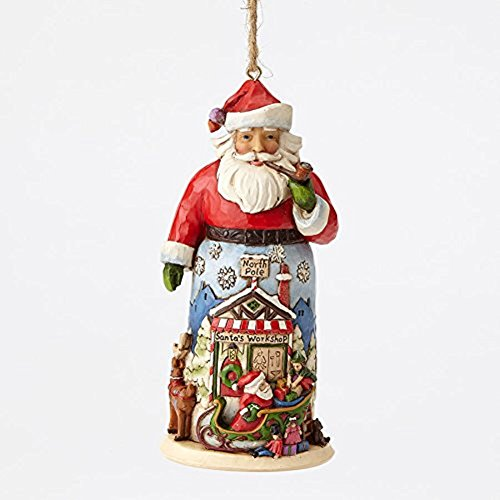Enesco Jim Shore HWC Santa With Sleigh and Reindeer Ornament
