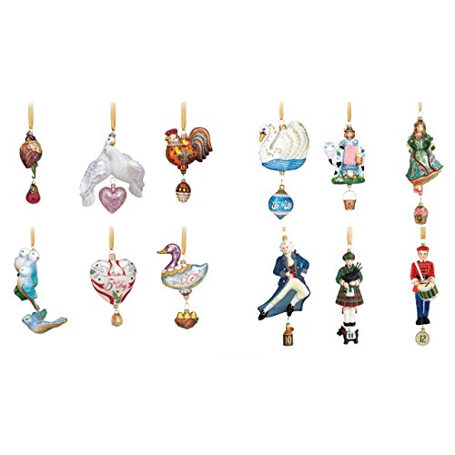 Reed & Barton 12 Days of Christmas Ornaments, Set of 12