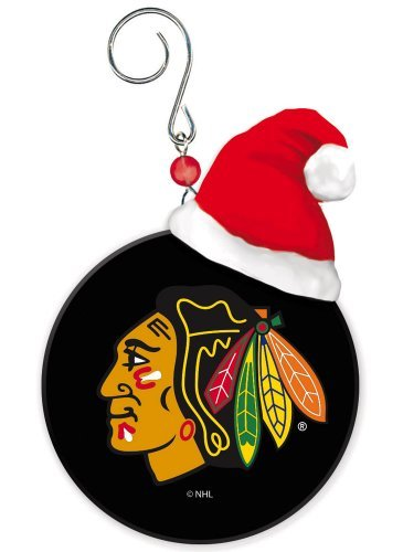 Chicago Blackhawks Mini Puck Christmas Ornament by Fans With Pride