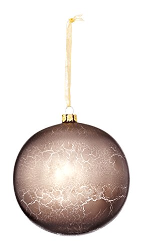 Sage & Co. XAO19477SV Glass Crackle Finish Ball Ornament (4 Pack)