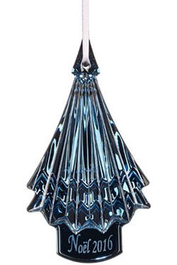 Baccarat Crystal Blue 2016 Christmas Ornament