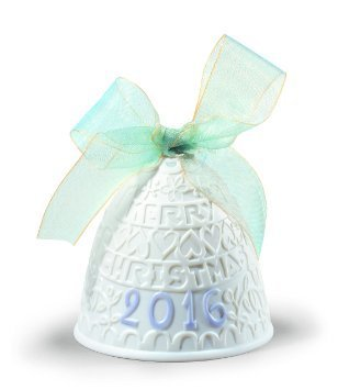 Lladro 2016 Annual Christmas Bell #01018409 (ornament) – original matte blue finish by Lladro