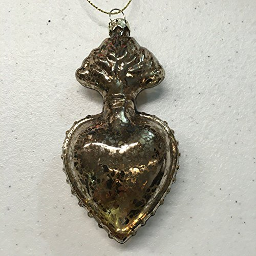 Holiday Lane Gold Heart Glass ornament