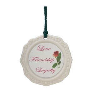 Belleek Claddagh Ornament, 2.5″