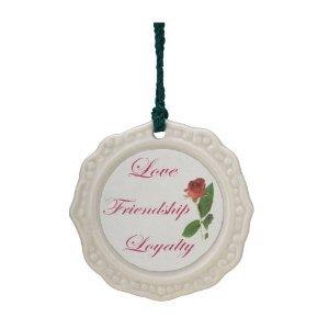 Belleek Claddagh Ornament, 2.5″