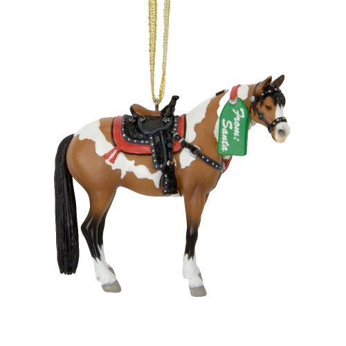 Trail of Painted Ponies from Enesco Santa's Surprise Ornament with Tin Gift Box Ornament 2.5 IN
