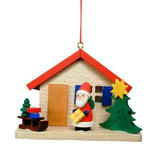Cottage with Santa Ornament
