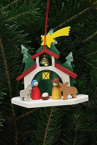 Tree ornaments Tree Ornaments Chapel with the Holy Family – 9,2×8,8cm / 4×3 inch – Christian Ulbricht