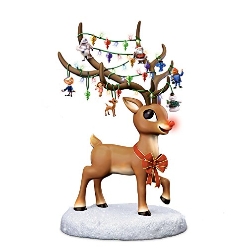 Rudolph the Red Nosed Reindeer Illuminated Musical Figurine by The Bradford Exchange