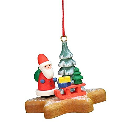 "10-0560 – Christian Ulbricht Ornament – Santa on Star – 3″""H x 7.5″""W x 5″""D"