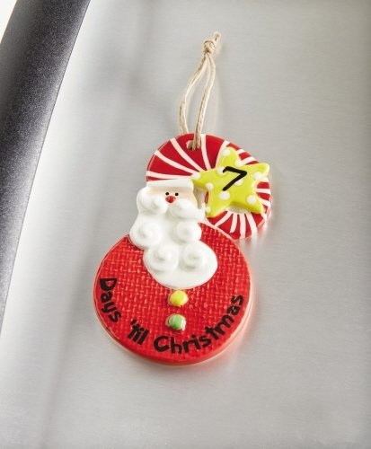 Magnetic Santa Countdown Ornament