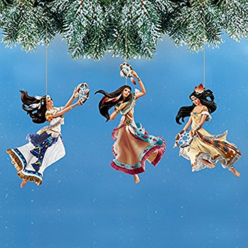 The Bradford Exchange Beautifully Designed Native Spirit Dancers Ornaments Set 3