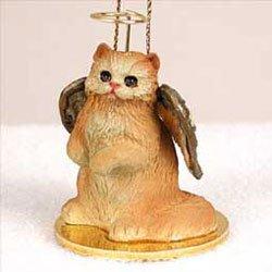 Christmas Ornament: Persian Cat, Red