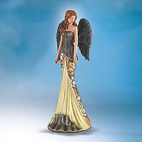 The Bradford Exchange Stunning Midnight Elegance Moonlight Garden Angels Figurine Collection