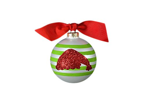 Coton Colors Glitter Santa Hat Glass Ornament