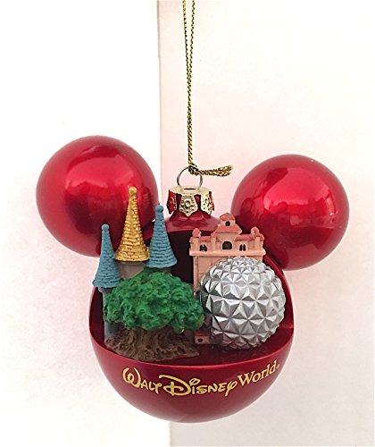 Walt Disney World Four Parks Mickey Mouse Ears Head Ornament NEW