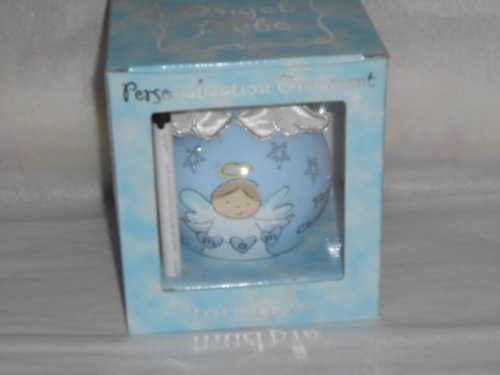 "Mud Pie Bebe Personalization Ornament ""Mommy's Angel"" Blue"