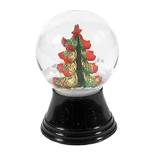 Alexander Taron Importer PR1169 Perzy Decorative Snowglobe with Mini Christmas Tree, 1.5″ x 1″ x 1″