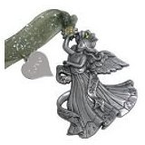 Angels of Inspiration Angel of Spring Pewter Collectible Ornament Featuring Swarovski Crystals