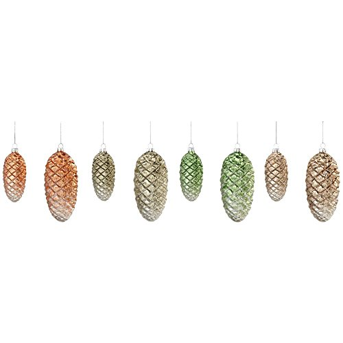 Martha Stewart Living 1.75 in. Pinecone Christmas Ornaments (Set of 8)