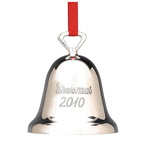 Reed & Barton Annual 2010 Plated Holiday Christmas Ornament Silver