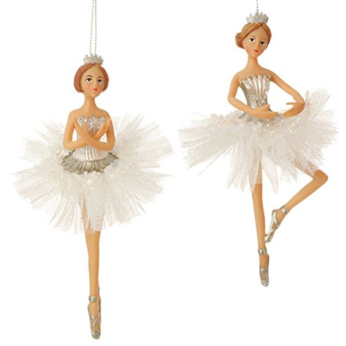 Decorative 6.5″ Dancing Ballerina Christmas Ornaments – Set of 2