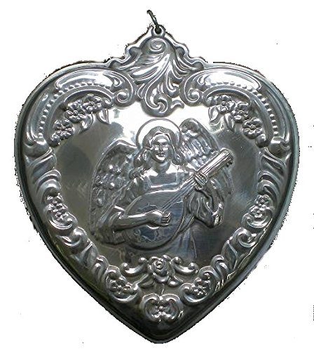 1997 Wallace Grande Baroque Heart with Angel Sterling Christmas Ornament 5th Edition