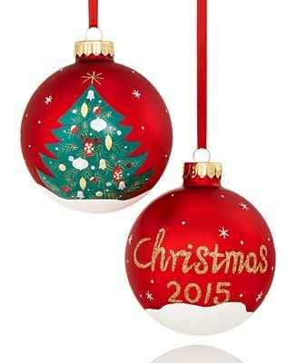 Holiday Lane 2015 Tree Ball Christmas Ornament