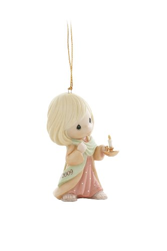 """Precious Moments """"May Your Faith Christmas Light The Way"""" Dated 2009, Christmas Ornament"""