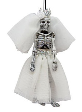 December Diamonds Halloween Ornament – Bride Skull