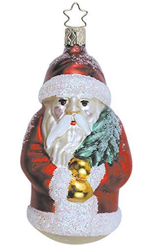 Father Christmas – Red, #1-012-01, from the 2001 Santa Land Collection by Inge-Glas; Gift Box Included