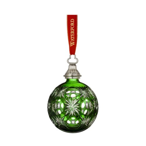 Waterford 2012 Annual Emerald Cased Ball Ornament