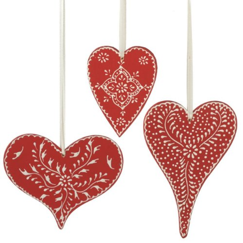 Midwest CBK Hand Painted Snowy Heart Ornament