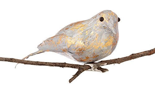 Sage & Co. XAO20193SV Feather Birds Ornament (12 Pack)
